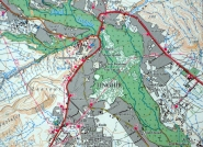 Carte topographique de Tinghir.